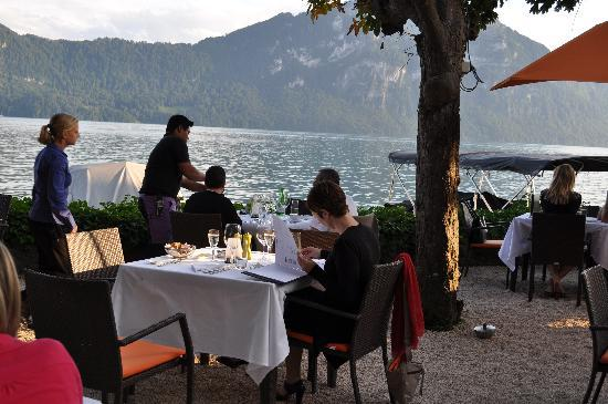 Post Hotel Weggis: terras with a view