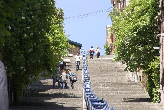 Lüttich, Belgien: Die berühmte Stege