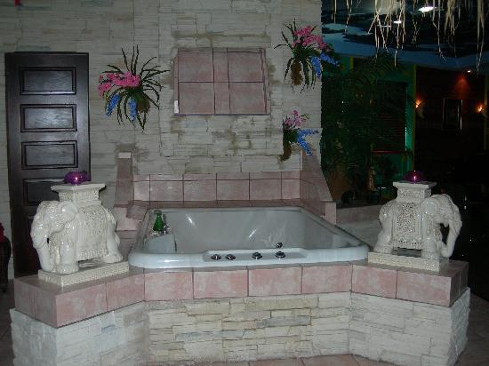 Mariaggi's Theme Suites Hotel and Spa: waterfall hot tub