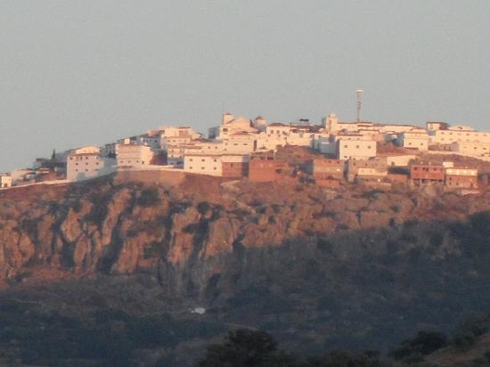 Casa Colina: Comares, the nearest town, by sunset.