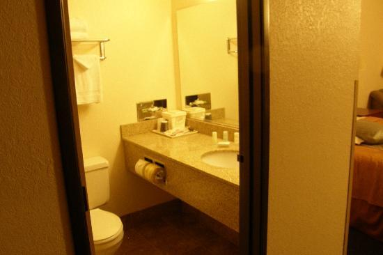 Quality Inn & Suites: bathroom was clean