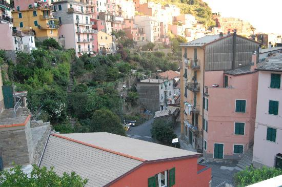 Hotel Ca D'Andrean: view of Manarola from our balcony