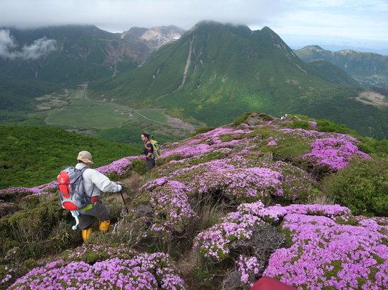 Kokonoe-machi, Giappone: 三俣山を望む