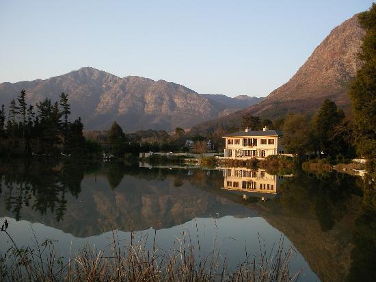 Auberge La Dauphine: The view across their dam