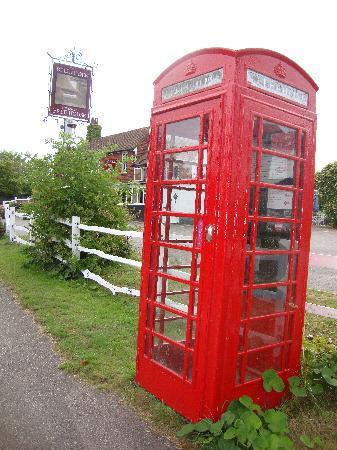 The Bell at Iden : the phone box outside