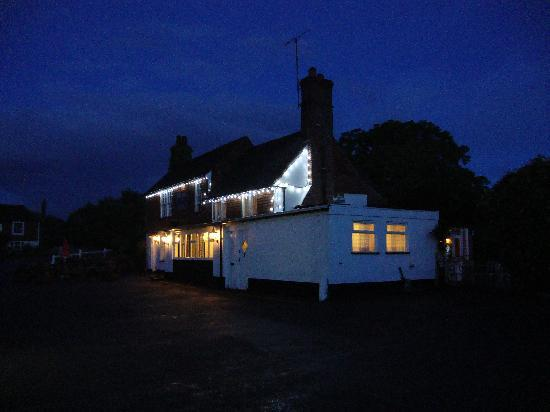 The Bell at Iden pub at night