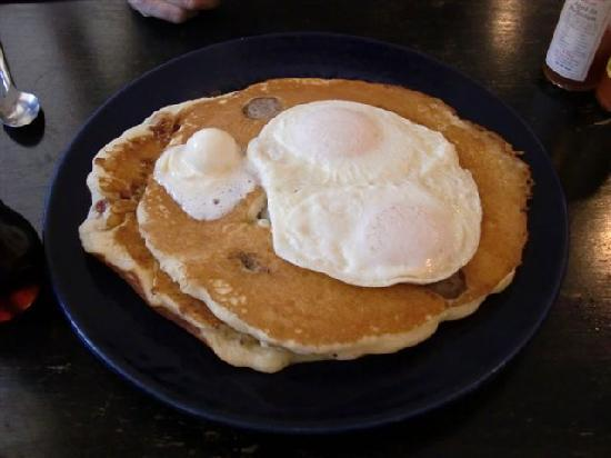Buff Restaurant: Saddle Bag Pancakes Featured on Man VS Food