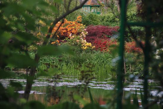 Giverny, Prancis: Blick über den See im Garten