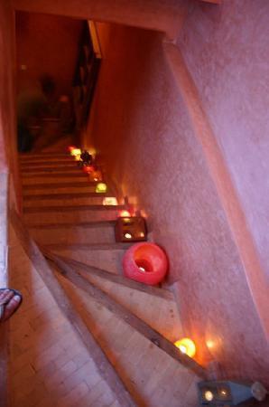Riad Eowa: escaleras