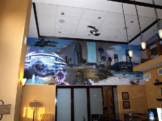 Hampton Inn & Suites Jacksonville - Bartram Park: Frühstücksraum-Wandbilder