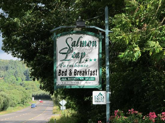 Salmon Leap Farm: Salmon Leap Sign on Highway