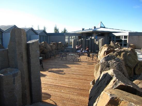 Icelandair Hotel Fludir: Bar terraza