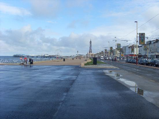 By The Seaside: The view of Blackpool Tower.