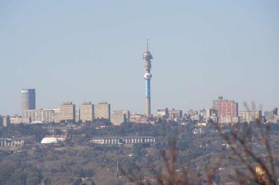 Greenwood Manor: Blick von Unterkunft auf Johannesburg