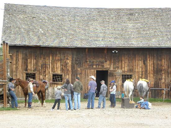 Vee Bar Guest Ranch: Saddling up