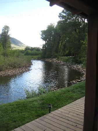 Vee Bar Guest Ranch: View from our Cabin/River View