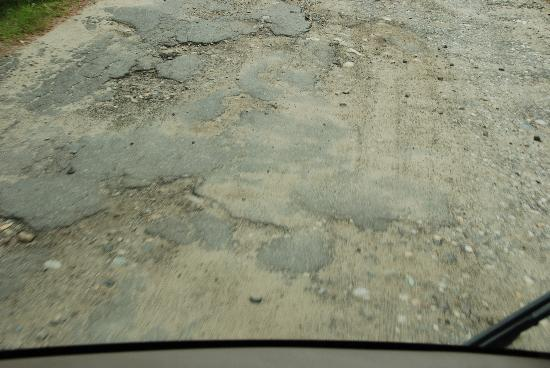 Ruggles Mine: Condition of pavement