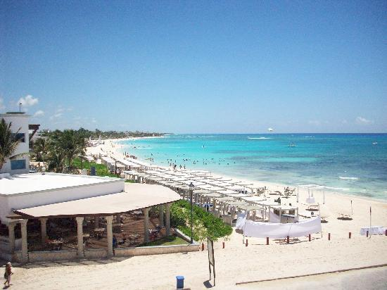 Hilton Playa Del Carmen View Of The Beach Front At Royal Taken From
