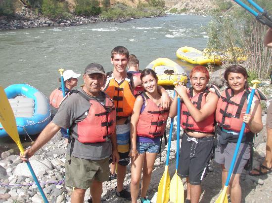 Flying Pig Adventure Company: Our Family right before we went White Water Rafting
