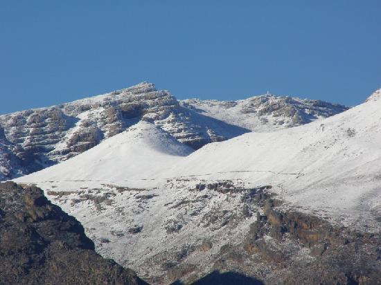 Ceres, Sydafrika: Snow on the Matroosberg in winter