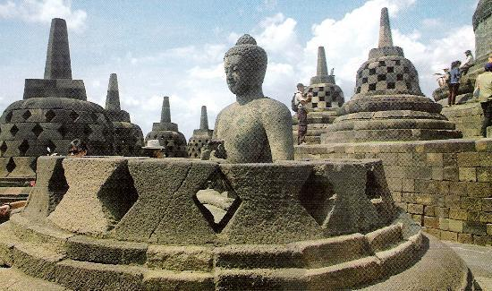 Yogyakarta, Indonesien: Buddhistischer Weltkulturerbetempel Borobudur