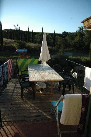 Montespertoli, Italien: Terrasse appartement