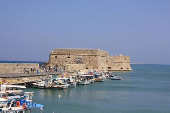 Kreta, Grækenland: Heraklion, son port et son fort