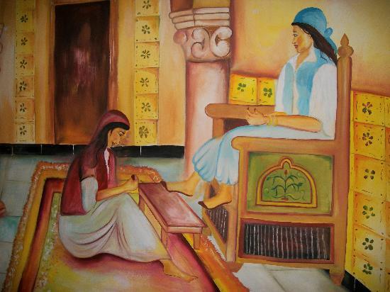 Dar Zakarya : vous découvrirez les nbreux tableaux dans l'hôtel