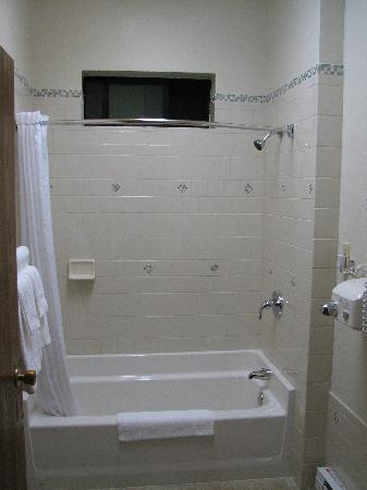 Yellowstone Village Inn: Separate bathoom with shower
