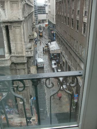 UNA Maison Milano: The view from our balcony.