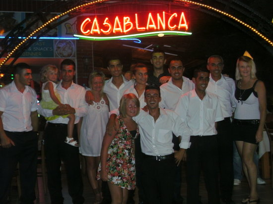 Casablanca Restaurant: all the staff last night