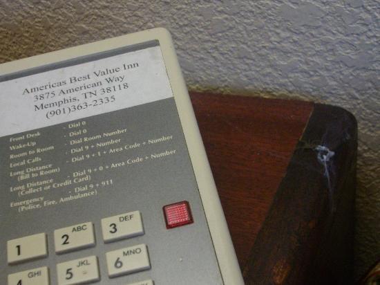 Fair View Inn & Suites : beurk la petite araignée à côté du téléphone ....