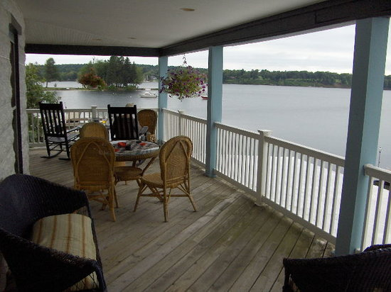 Fair Haven, NY: View from porch outside our room