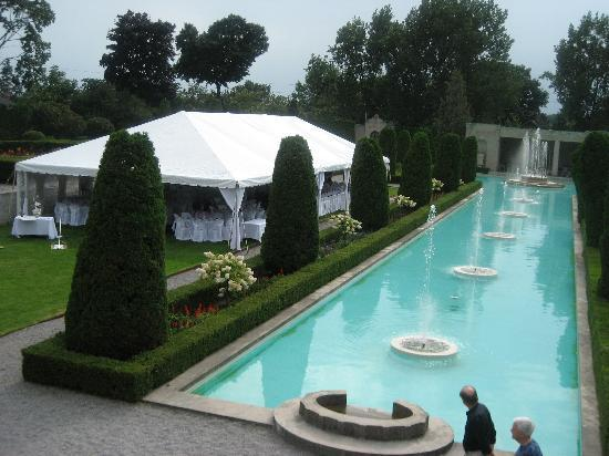 The Gardens Were All Set Up For An Outdoors Wedding Reception Picture Of Parkwood National