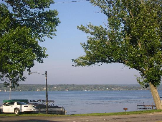 Mayville, NY: View from hotel of Chautauqua Lake