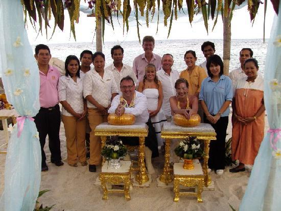 Centara Villas Samui: Staff who attending Wedding