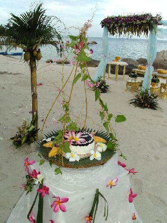 Centara Villas Samui: Beach decoration