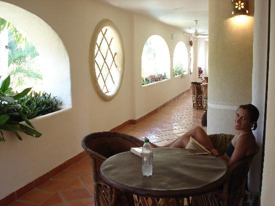 Hotel Villas Sayulita: Chilling out on the balcony