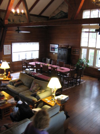 The Storm King Lodge: The 'great room' in the barn