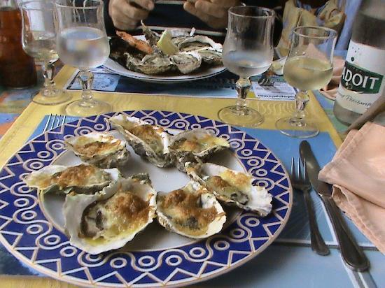 Restaurant Rive De Thau: Austern gratiniert