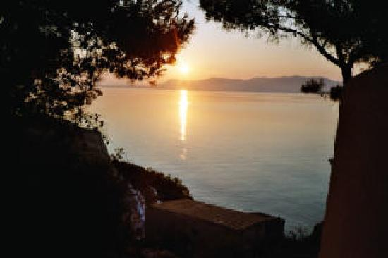 Angistri, Greece: How about this as a wake-up call? Morning view from Rosy's.