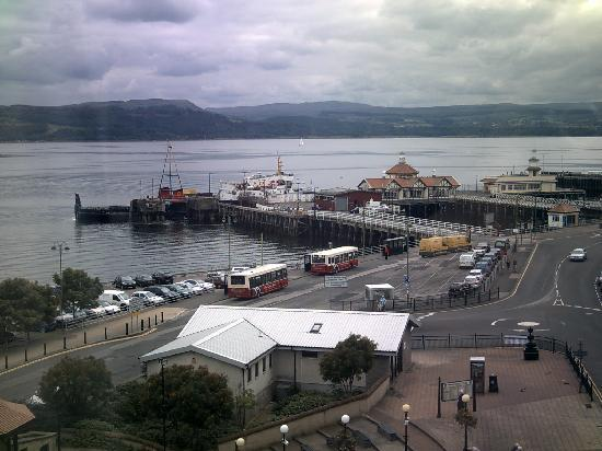Argyll Hotel: the view from the hotel