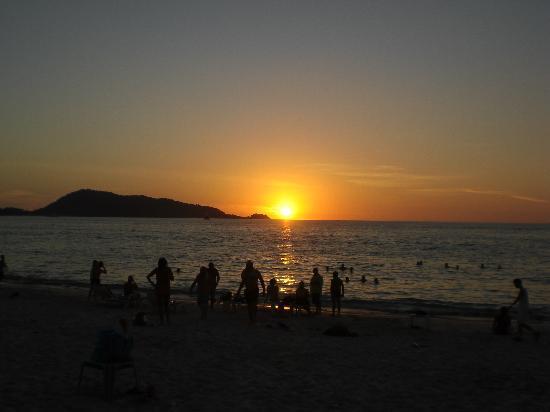Priew Wan Guesthouse: Sonnenuntergang