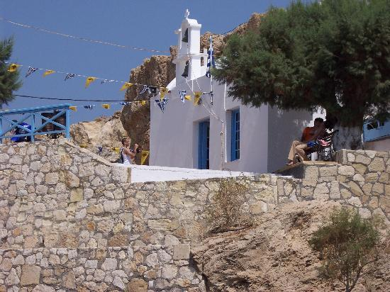 Astra Village Apartments: church at herssonisoss beach