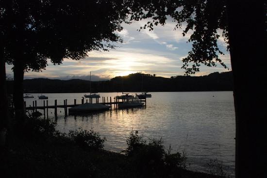 Storrs Lodges: Sunset over Lake Windermere