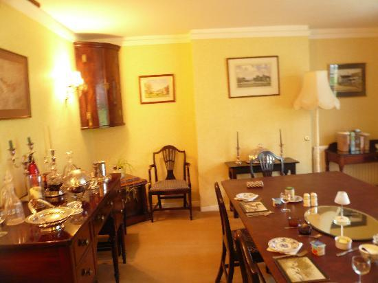 Barn Close: The dining room