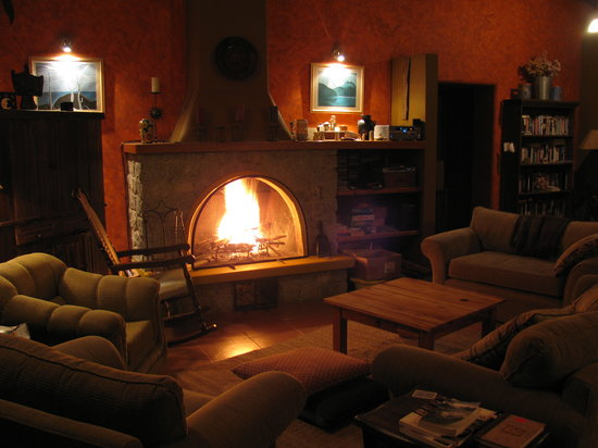 The Lazy Dog Inn: The fireplace