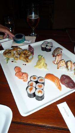 Riva Yacht Harbour Hotel: Sushi plate