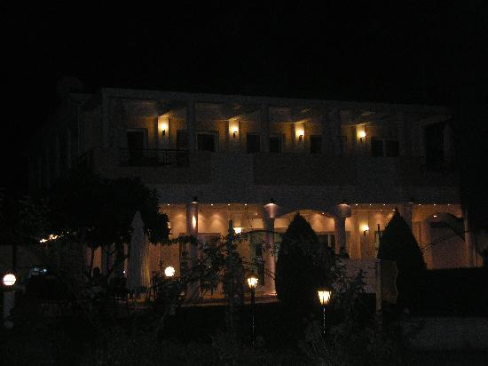 Chrousso Village: reception by night