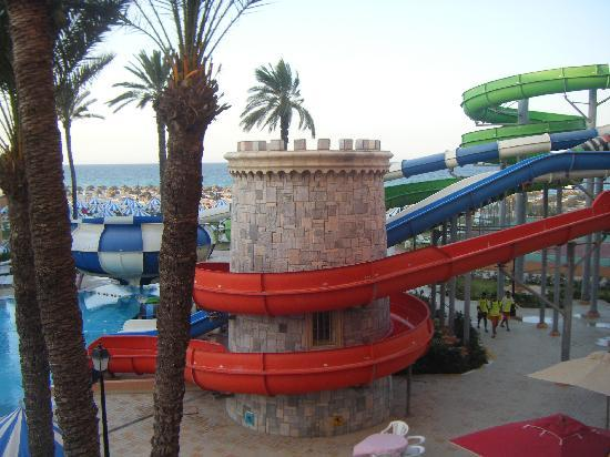 Le Marabout Hotel : les tobogans et la mer